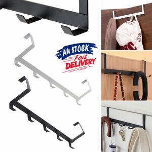 5 Hooks Clothes Storage Towel Hanging Rack Over Door Hanger No-Punching Holder