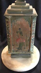 Antique French Art Deco Lamp Champleve Bronze Dinandarie A Desgranges for Resto