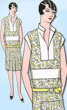 1920s VTG Ladies Home Journal Sewing Pattern 5393 FF Misses Flapper Dress Sz 36B