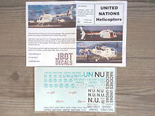 "BELL-206/KIOWA/ALOUTTE-III ""UNITED NATIONS"" JBOT DECALS 1/48"
