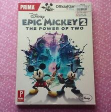 Disney EPIC MICKEY 2 The Power of Two Official Game Guide Paperback PRIMA