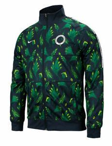 Nike Nigeria 2020 - 2021 Anthem Line Up  Soccer Jacket Brand New Forest Green