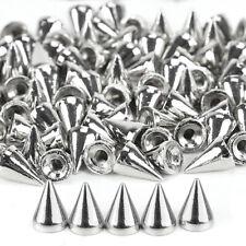 100 x Silber Kegel Nieten Schraubnieten Killernieten Ziernieten Leder Handwerk