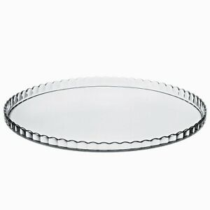 33cm Glass Serving Plate Cake Stand Cupcake Display Tray Wedding Party Tableware