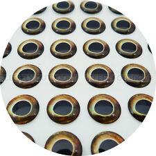 8mm Real Dark / Wholesale 300 Soft Molded 3D Holographic Fish Eyes, Fly Lure
