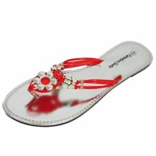 Calzado de mujer plana sin marca color principal rojo