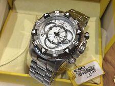 24262 Invicta Men's 52mm Excursion Quartz Chronograph Silver Dial Bracelet Watch