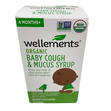 Wellements Organic Baby Cough and Mucus Syrup 4 Months+ Expire 01/2021 NIB