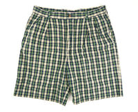 "Tommy Hilfiger Mens Size 36 Blue Green Yellow Plaid Casual Shorts 9"" Inseam"