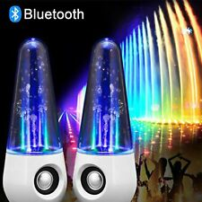 Round Bullet LED Dancing Water Wireless Bluetooth Stereo Speaker For Phones PC