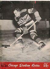 1944-45 Chicago Black Hawks-Maple Leafs Program Hawks Blank Cup Champs!!