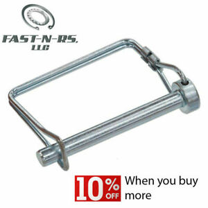 Snap / Lock Pin Square 2 Wire 1/4 x 2-1/4 Zinc Clear (50 Pieces) Free Shipping