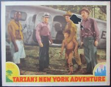 SIGNED JOHNNY SHEFFIELD~TARZAN'S NEW YORK ADVENTURE~ORIG RELEASE 1942 LOBBY CARD