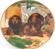 Dog Yorkie Golden Retriever Dachshunds Puppy Plate Bradford Knowles Danbury Mint
