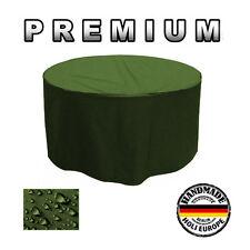 Gartentisch Abdeckung Gartenmöbel Schutzhülle RUND ø 175cm x H 80cm Olivgrün