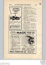 1952 PAPER AD Mitchell Spinning Fishing Reel Magic Denver Colorado Orvis Pridex