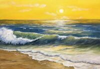 "Art16""×12""originaloil hand painting, by laura livetskiyseascape landscape.ocean"