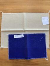 Lot Cross Stitch Fabric Linen 28ct Mushroom Lugana/28ct Royal Christmas Blue New
