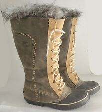 Sorel Cate the Great Women's US 8 Tall Leather Winter Snow Boots Waterproof EUC