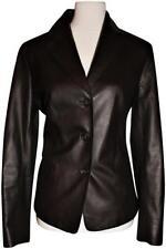 Saks Fifth Avenue Blazer - Jacket, Lambskin Leather Deep Brown NWOT, SRP$1395