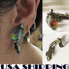 Magic Man Hold Magic Ball Puncture Ear Stud Womens Unisex Earring for girl 1PC