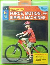 Force, Motion & Simple Machines Science Photo Cards Creative Teaching Press K-2