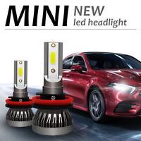 2X H11 H8 H9 COB LED 72W 9000LM Coche Headlight Kit Luz Bombillas Lámpara 6000K