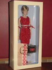 Franklin Mint LE Princess Diana Doll in Red Beaded Dress, NIB with COA