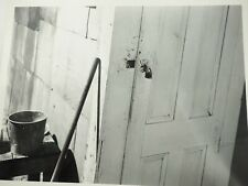 """Vintage Crime Scene Photo Obvious Forced Entry 1940's B&W 8 x 10"""""""