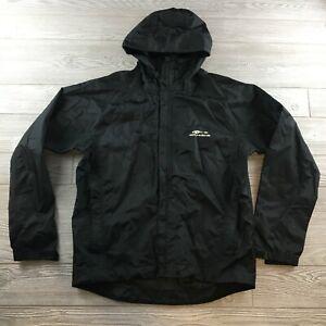 Grundens Black Rain Jacket Fishing Full Zip Medium
