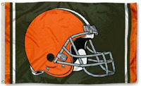 Cleveland Browns Flag ~ Large 3'X5' ~ Sports NFL Banner ~ FREE SHIPPING