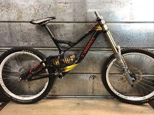 "Specialized S-Works Demo Large DH Bike Frame Frameset w/ Wheels 26"" Troy Lee"