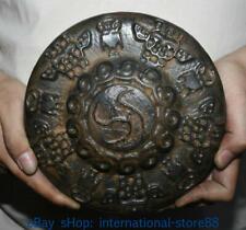 Old China Hongshan Culture old Jade stone (black magnet) Skeleton Skull Statue