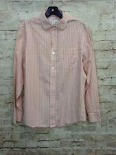 Banana Republic Mens Orange/White Checkered Classic Fit Shirt Sz S (14-14.5)