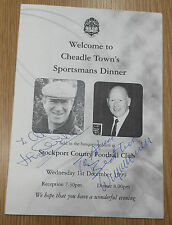 More details for sportsman dinner menu signed by jackie charlton & wilf mcguinness @ stockport fc