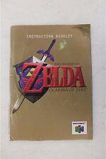 The Legend of Zelda The Ocarina of Time Nintendo 64 Instruction Booklet LOOK