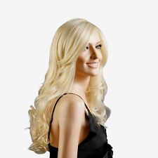High Quality Women Light Blonde Fashion Natural Full Curl Wig Hair Cosplay Party