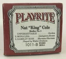 More details for play-rite pianola long play word roll: nat king cole medley no.1