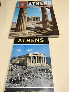 ATHENS GREECE Vintage Books In Great Condition Beautiful illustrations & History