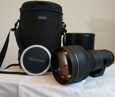 Tokina 300mm f/2.8Full-Frame AF AT-X Canon fit with case: EXTREMELY SHARP  LENS