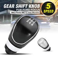 5 Speed Chrome Gear Shift Stick Knob For Ford Focus Mondeo Galaxy Fiesta Ttansit