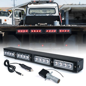 "Xprite Red 21.5"" Wireless LED Light Bar Traffic Advisor for 12V Tow Truck Pickup"