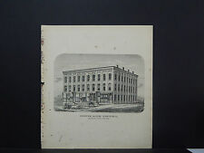 New York, Chautauqua County Map 1867 Westfield, Brewer Block, Homes in Westfield