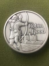 Robin Hood Ultra High Relief Silver 2 oz w/ Antiqued Finish & Concave BU Round