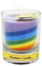 Aloha Bay Rainbow Jar Candle 7 Seven Chakra Votive Eco Palm Wax Reiki Unscented