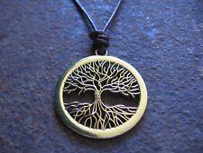 Colgante Árbol de la vida cuero marrón NUEVO tree of Life Hombre Cadena Collar