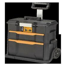 2 in 1 Rolling Tool Box Garage Workshop Shed Storage Organizer Rubber Wheels