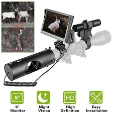 "Infrared Night Vision Rifle Scope 850nm Hunting Sight Led Ir Camera 5"" Monitor"