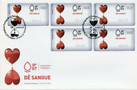 Portugal 2019 FDC Give Blood Tempo Time 5v S/A Label Cover Medical Health Stamps