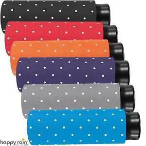 Regenschirm Damen Mini Taschenschirm Flash super klein leicht - Dots Punkte